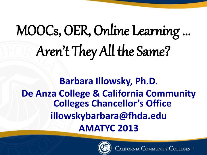 moocs oer online learning aren t they all the same n.
