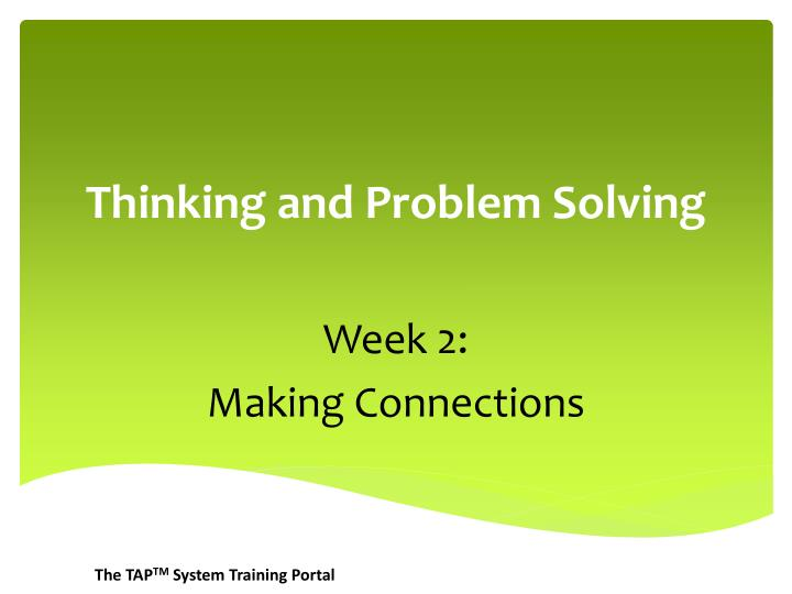 thinking and problem solving n.