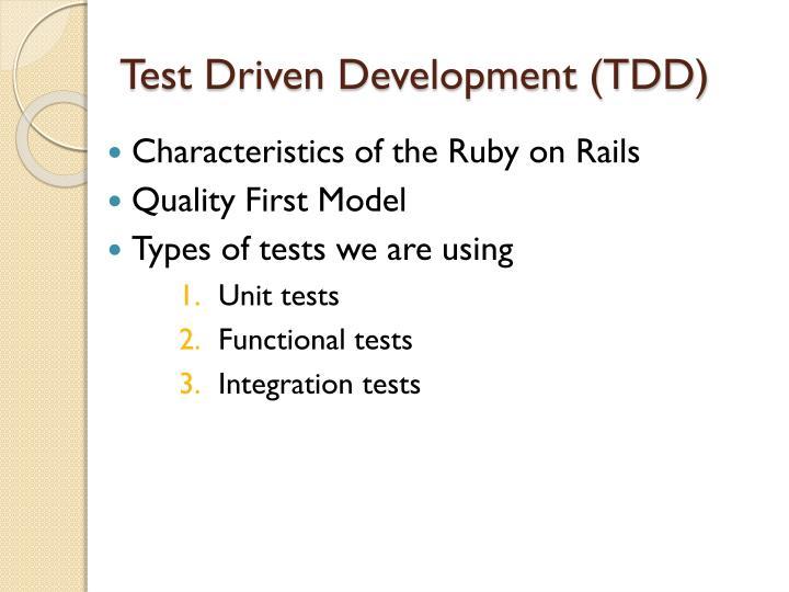 Test Driven Development (TDD)
