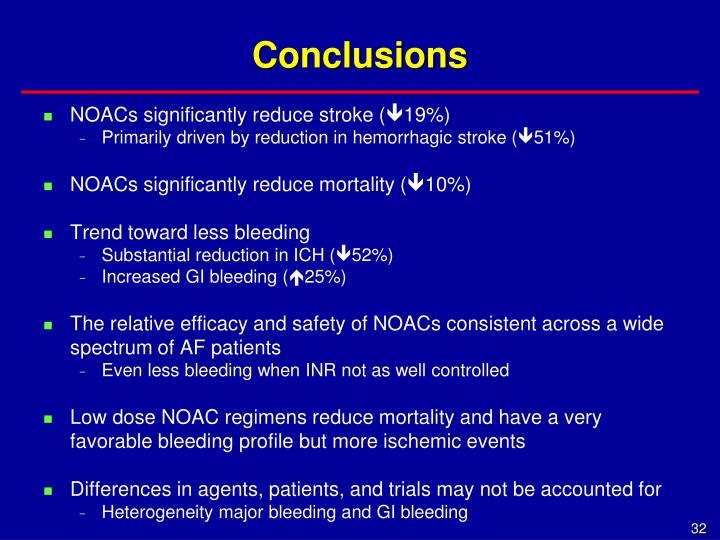 NOACs significantly reduce stroke (