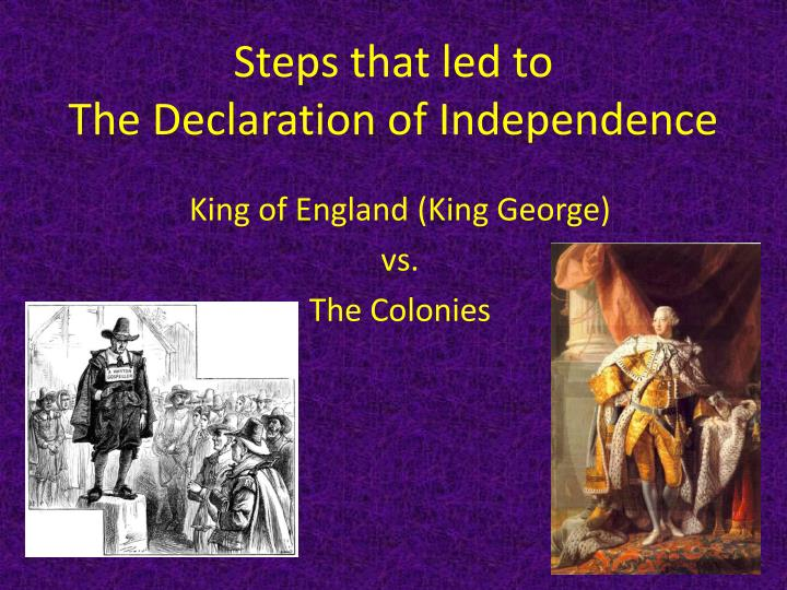 steps that led to the declaration of independence n.