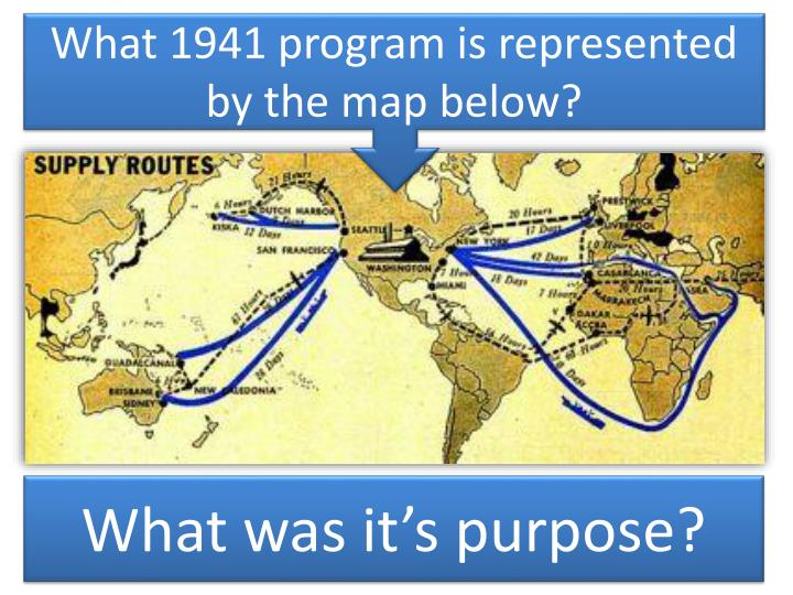 What 1941 program is represented by the map below?