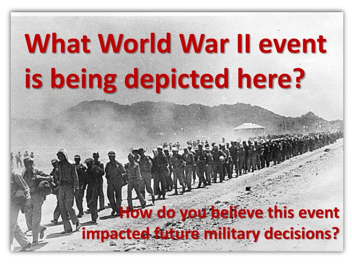 What World War II event is being depicted here?