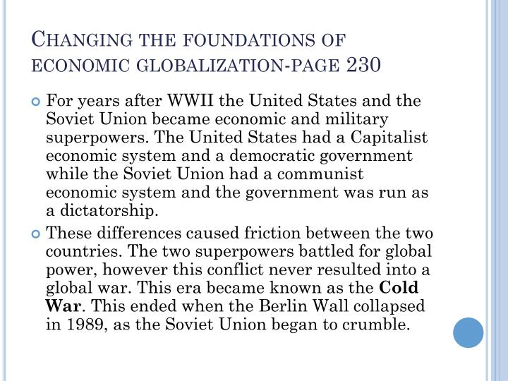 Changing the foundations of economic globalization-page 230
