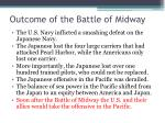 outcome of the battle of midway