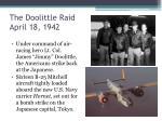 the doolittle raid april 18 1942