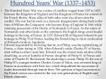 hundred years war 1337 1453