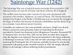 saintonge war 1242