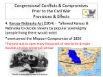 congressional conflicts compromises prior to the civil war provisions effects3