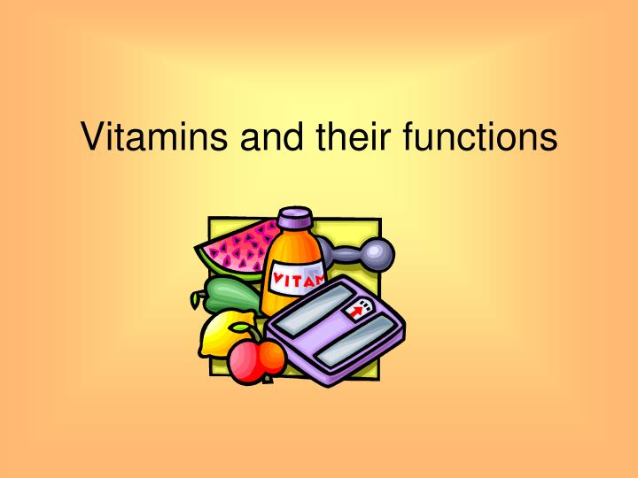 vitamins and their functions n.