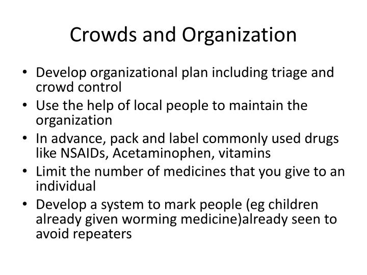 Crowds and Organization