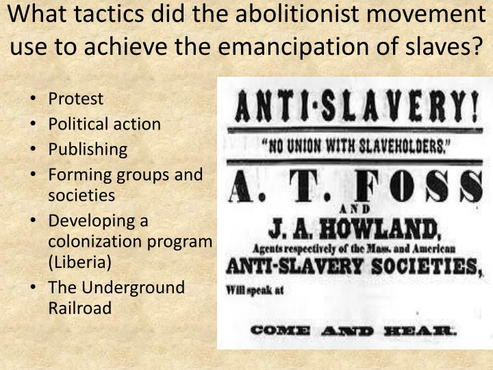literatures effect during the abolitionist movement The abolitionist movement was a reform movement that pursued to terminate the enslavement of africans and people of african descent in american during the abolitionist movement, it was thought that the duties of women were confined within the home (boylan 363) while most women of.