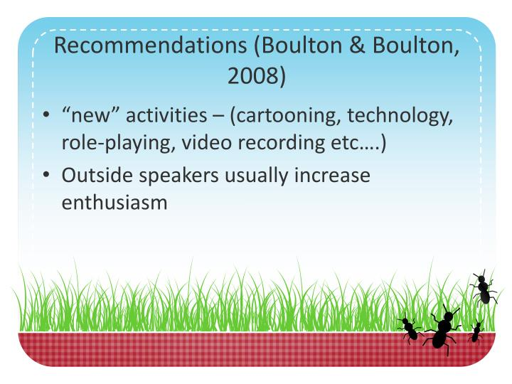 Recommendations (