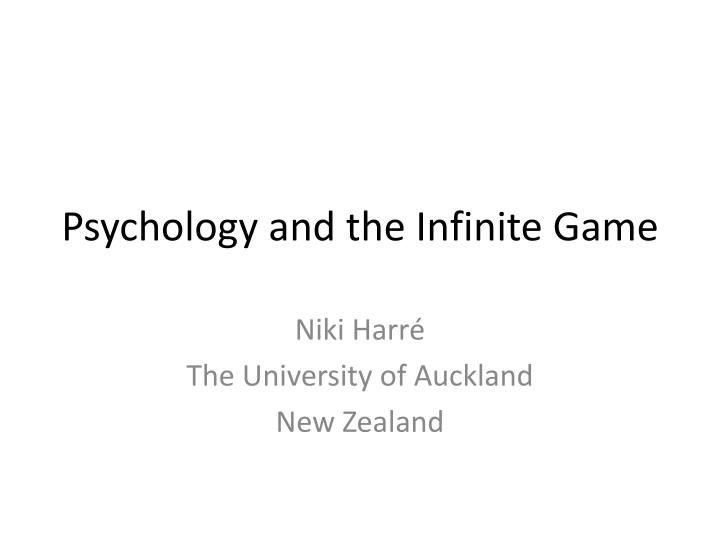 psychology and the infinite game n.