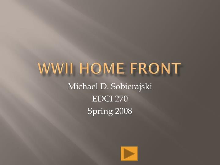 wwii home front n.