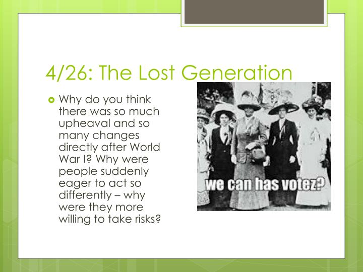 4 26 the lost generation n.