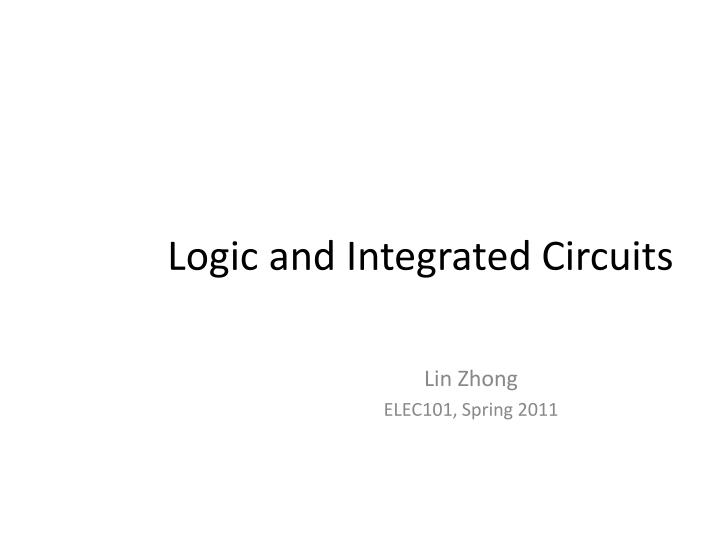 logic and integrated circuits n.
