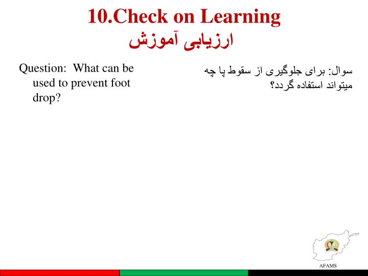 10.Check on Learning