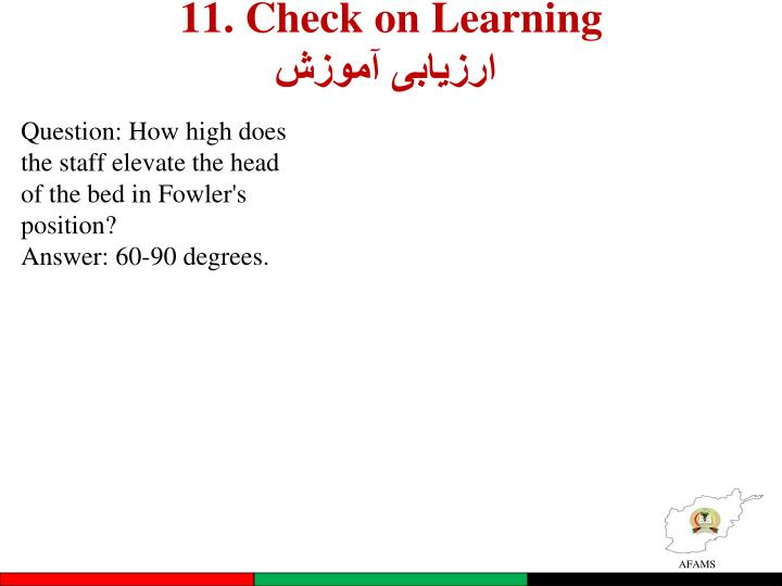 11. Check on Learning