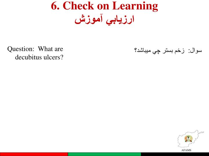 6. Check on Learning