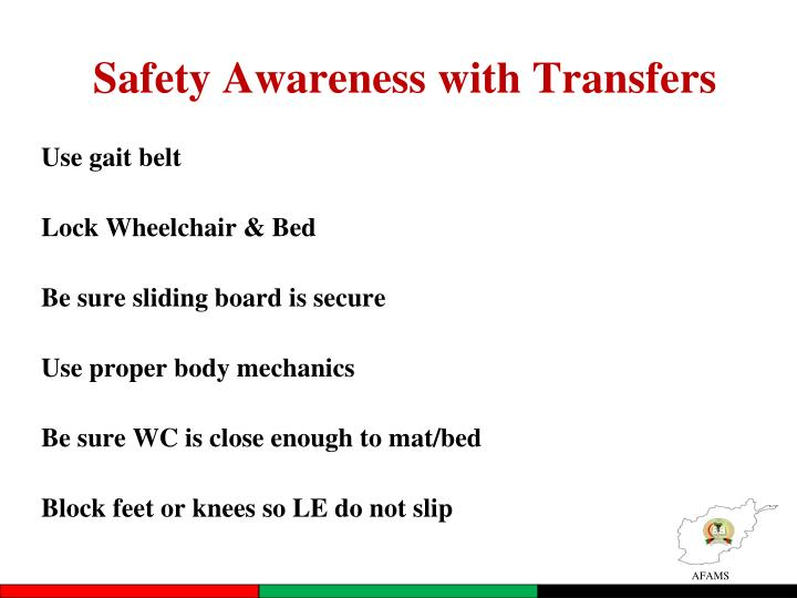 Safety Awareness with Transfers
