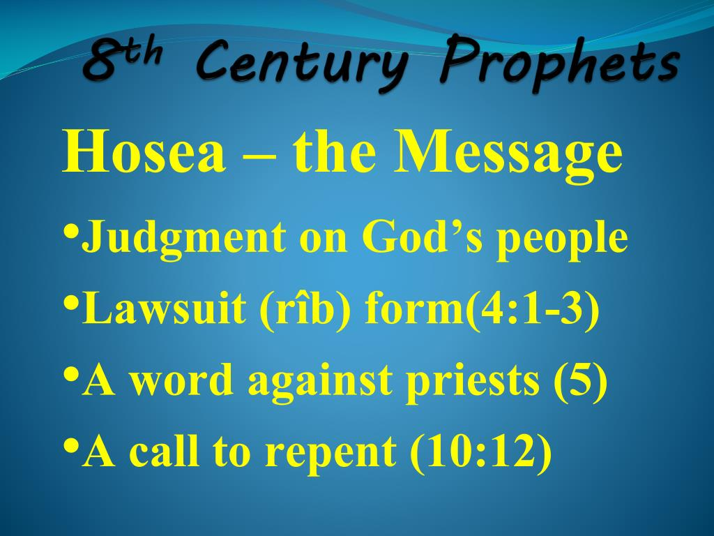 PPT - The Prophets PowerPoint Presentation, free download