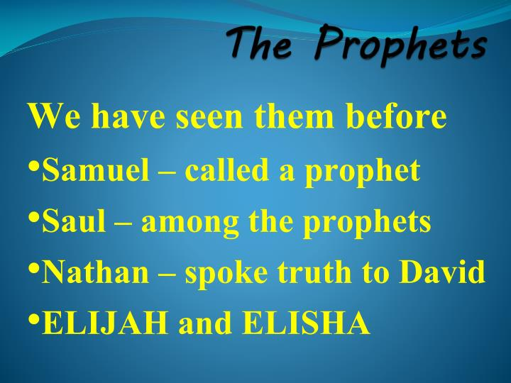the prophets n.