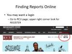 finding reports online