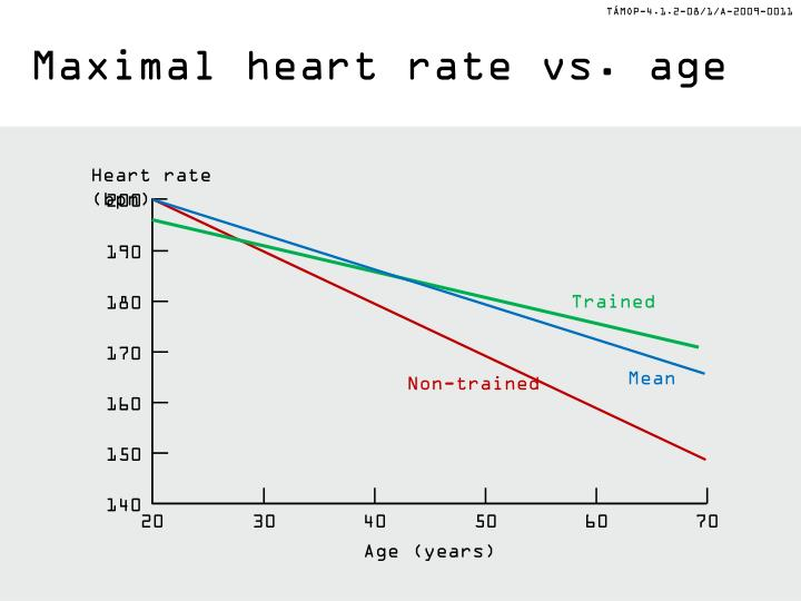 Maximal heart rate vs. age