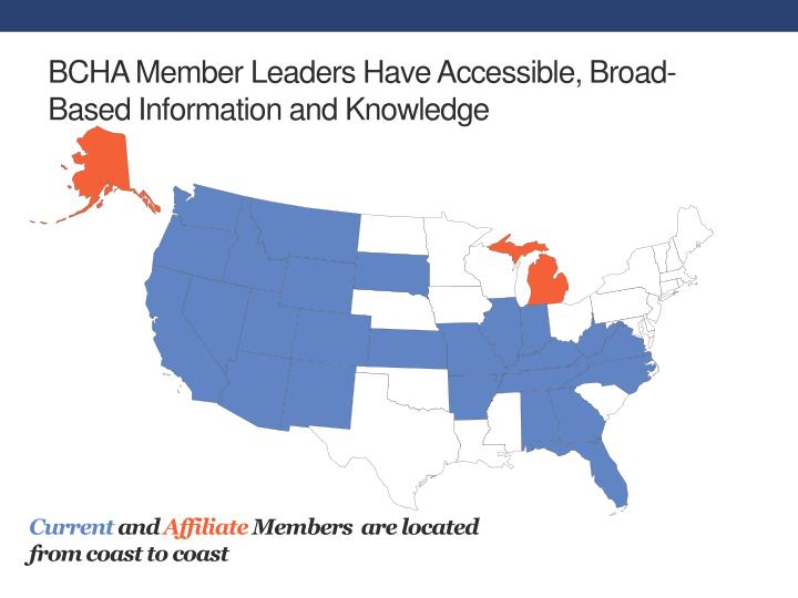BCHA Member Leaders Have Accessible, Broad-Based Information and Knowledge