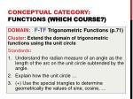 conceptual category functions which course