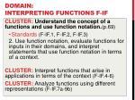 domain interpreting functions f if