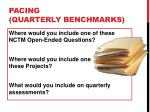 pacing quarterly benchmarks