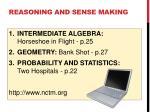 reasoning and sense making1