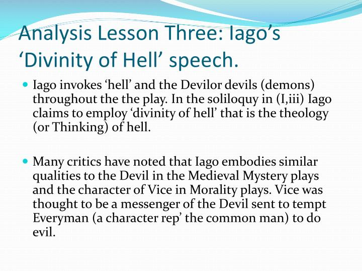 divinity of hell