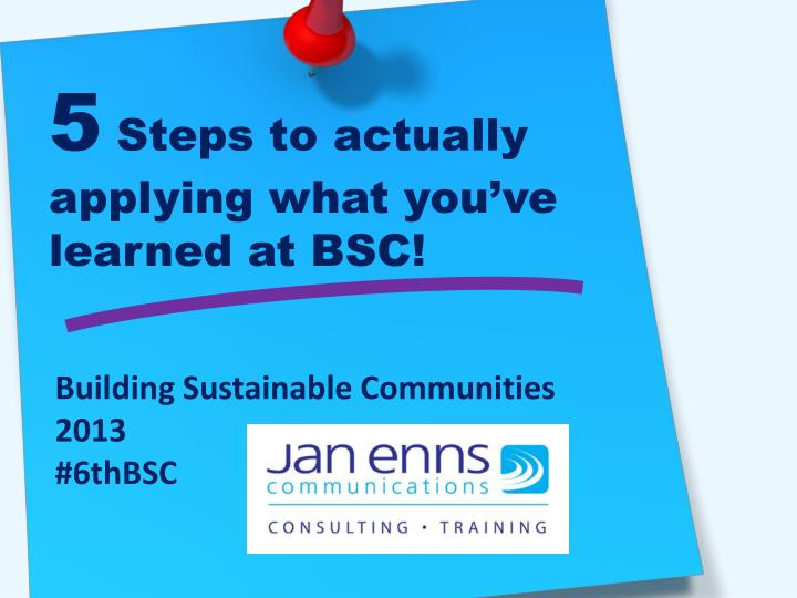 5 steps to actually applying what you ve learned at bsc n.