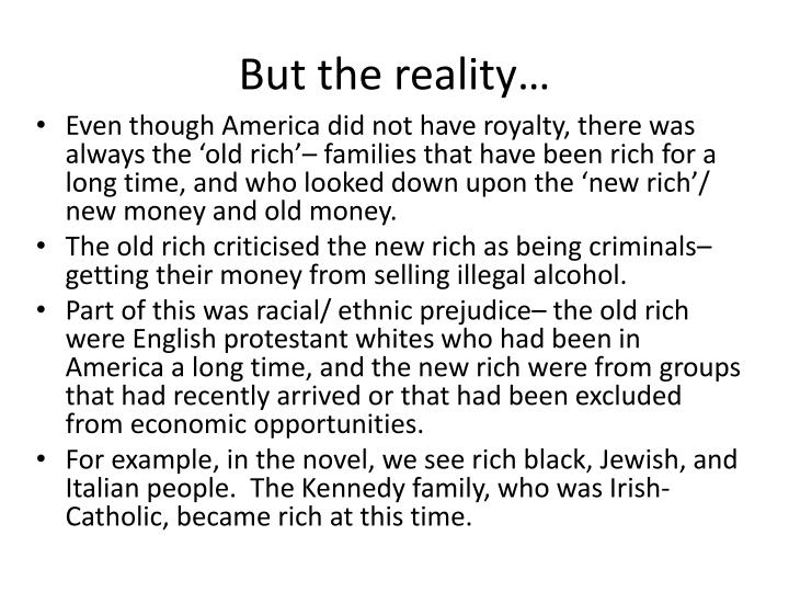 But the reality…
