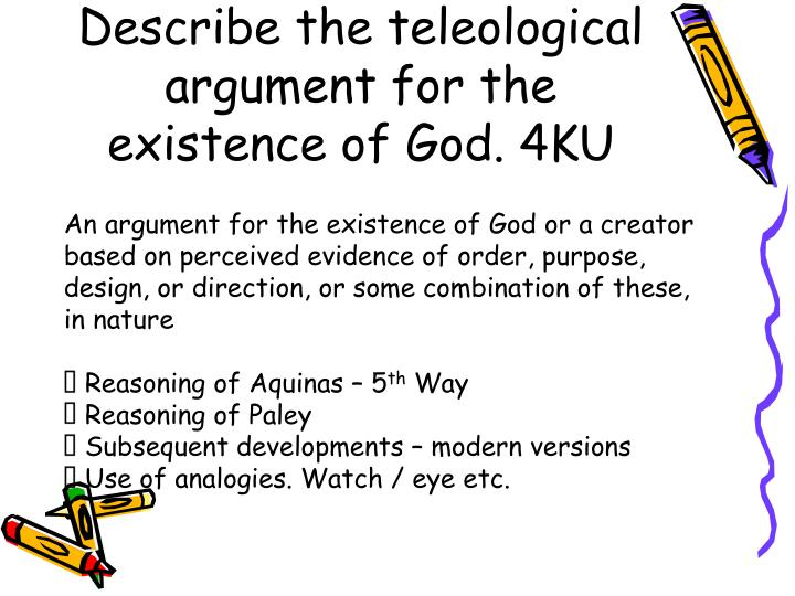 analyse the argument of the existence The ontological argument  all will be able to explain the ontological argument most will be able to analyse  write anselm's argument for the existence.