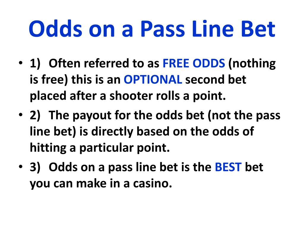 Odds On Pass Line