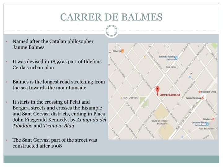 CARRER DE BALMES