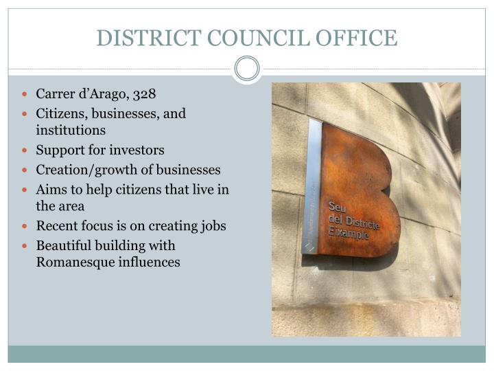 DISTRICT COUNCIL OFFICE