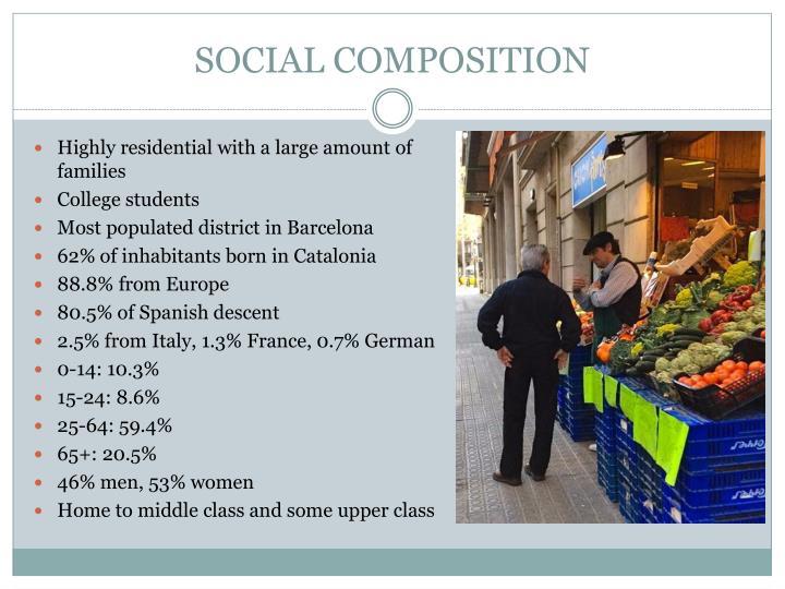 SOCIAL COMPOSITION