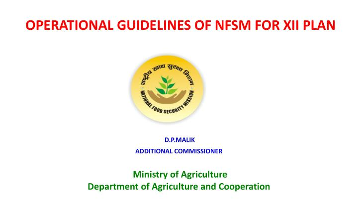 operational guidelines of nfsm for xii plan n.