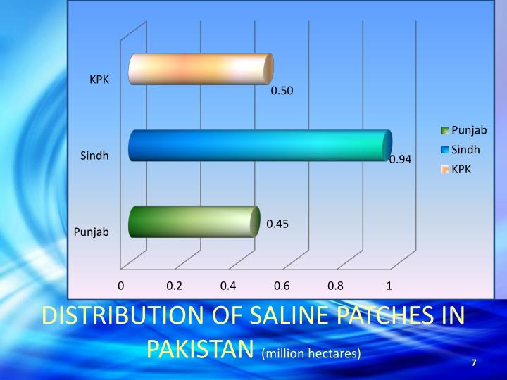 DISTRIBUTION OF SALINE PATCHES IN PAKISTAN