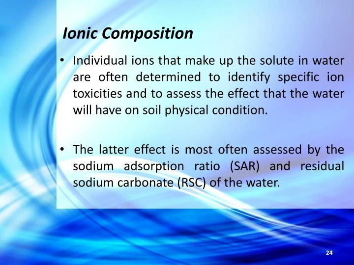 Ionic Composition