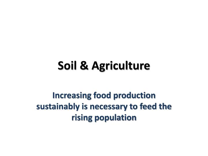soil agriculture n.