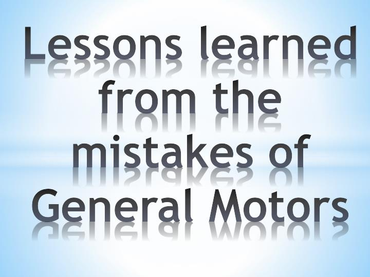Lessons