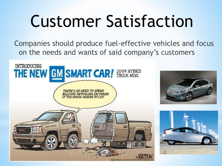 Companies should produce fuel-effective vehicles and focus