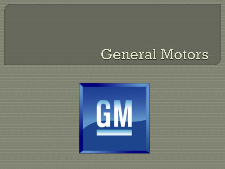 general motors pest analysis