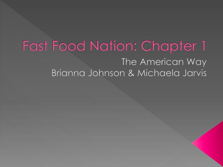 fast food nation chapter 1 n.